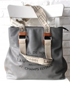 NOWOŚĆ INSPIROWANA LOUIS VUITTON MUST HAVE LAURA BIAGGI GRAY SHOPPER BAG